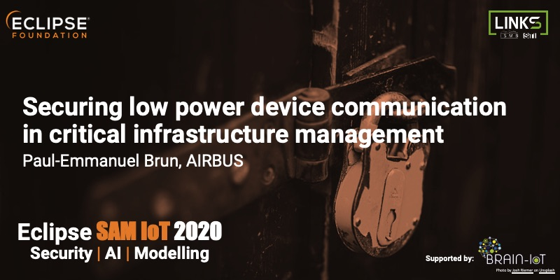 Securing low power device communication in critical infrastructure management